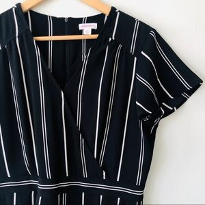 [xhilaration] Classic Stripe Jumpsuit + Pockets